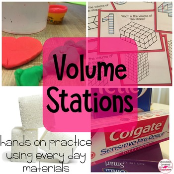 Upper Elementary Math - Volume Stations/ Centers