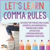 Upper Elementary & Middle School Comma Rules ~ Teach! Practice! Quiz!