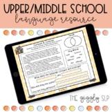 Middle School Language Activities | Digital