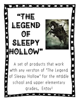 "Upper Elementary/Middle School ""Legend of Sleepy Hollow"" Bundle"