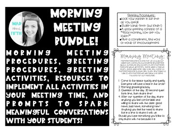 Upper Elementary/Middle School Morning Meeting Bundle