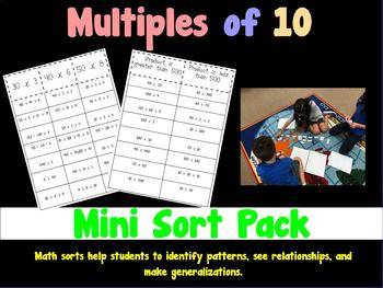 Upper Elementary Multiples of 10 Math Sorts - Operations & Algebraic Thinking