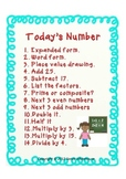 Upper Elementary Number of the Day Poster