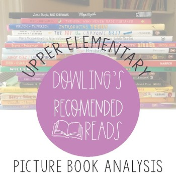 Upper Elementary Picture Book Analysis Guided Notes