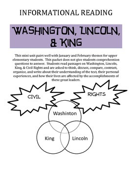 Washington, Lincoln, & King Upper Elementary Compare Read and Respond