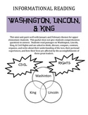 Washington, Lincoln, & King (Print & Go Informational Reading Activities)