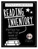Upper Elementary Reading Inventory
