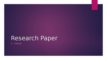 """Upper Elementary Research Paper """"How-To"""" Slideshow"""