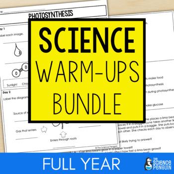 Science Warm-ups Bundle