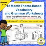 Upper Elementary Speech Therapy 12 Month Language And Voca