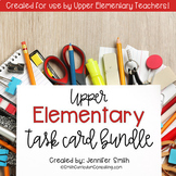 Upper Elementary Task Card Bundle of Resources for Interactive Learning