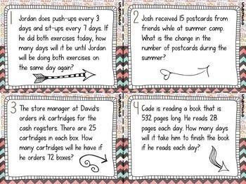 Upper Elementary Math Task Card Bundle