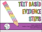 Upper Elementary Text Based Evidence Stems