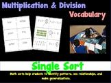 Upper Elementary Vocabulary Math Sorts - Operations & Algebraic Thinking FREEBIE
