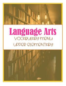 Upper Elementary Vocabulary Menu