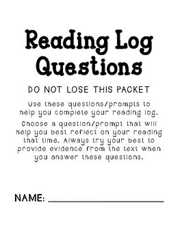 Reading Log and Response Questions