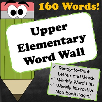 Upper Elementary Word Wall and Interactive Notebook