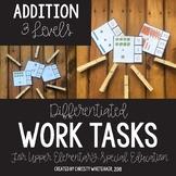 Upper Elementary Work Tasks: Addition
