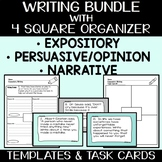 Expository, Narrative, & Opinion Writing Bundle with 90 Pr