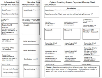 Upper Elementary Writing Graphic Organizers BUNDLE