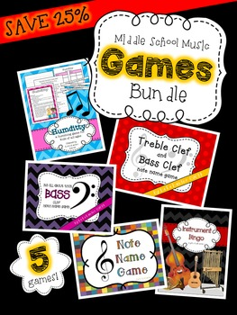 Back to School Games Bundle for Upper Elementary and Middle School Music