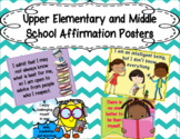 Upper Elementary and Middle School Affirmation Posters