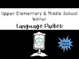 Upper Elementary and Middle School Winter Language