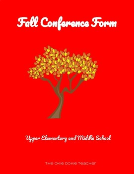 Fall Conference Form
