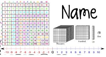 Upper Grade Desk EDITABLE Name Plate/Name Tag