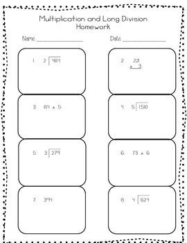 Upper Grade Homework