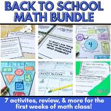 Back to School Math Activities Bundle: Middle School Classroom
