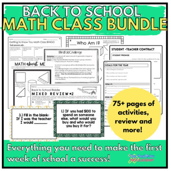 Back to School Activities Bundle for the Middle School Math Classroom