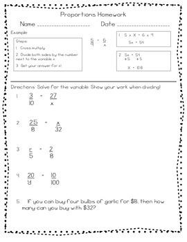Upper Grade Homework (Part 1) 5th/6th