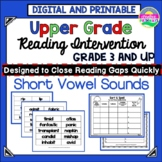 Phonics Intervention for Upper Elementary Grades-Short Vowel Sounds