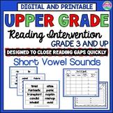Phonics Intervention for Older Students-Short Vowels-Dista
