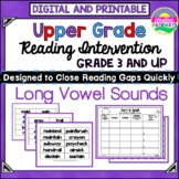 Reading Intervention, Long Vowel Sounds-General and Special Education Reading