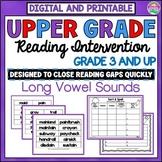 Long Vowel Reading Intervention for Older Students-Distanc