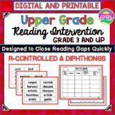 R-Controlled and Diphthongs-Reading Intervention-Upper Gra