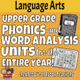 Upper Grade Phonics and Vocabulary Units for Entire Year