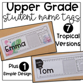 Upper Grade Student Desk Name Tags