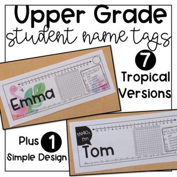 Upper Grade Student Desk Name Tags