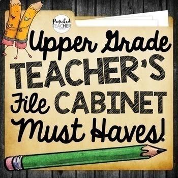 Upper Grade Teacher's File Cabinet MUST HAVES Bundle
