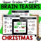 Upper Grades Christmas Brain Teasers