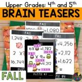 Digital Logic Puzzles   Upper Grades Fall Brain Teasers