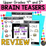 Upper Grades Fourth of July Brain Teasers