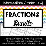 Fractions Bundle for Intermediate Grades
