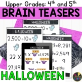 Upper Grades Halloween Brain Teasers