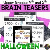 Digital Logic Puzzles   Upper Grades Halloween Brain Teasers