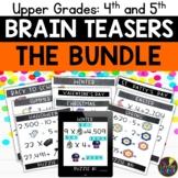 Upper Grades Logic Puzzles Bundle   Print and Digital