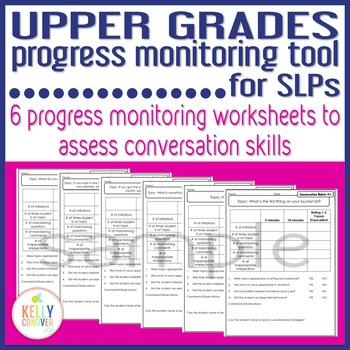 Upper Grades Progress Monitoring Tool for SLPs - CONVERSATION SKILLS RUBRIC